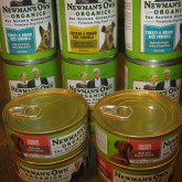 Newman's Own Dog Food, assorted size cans
